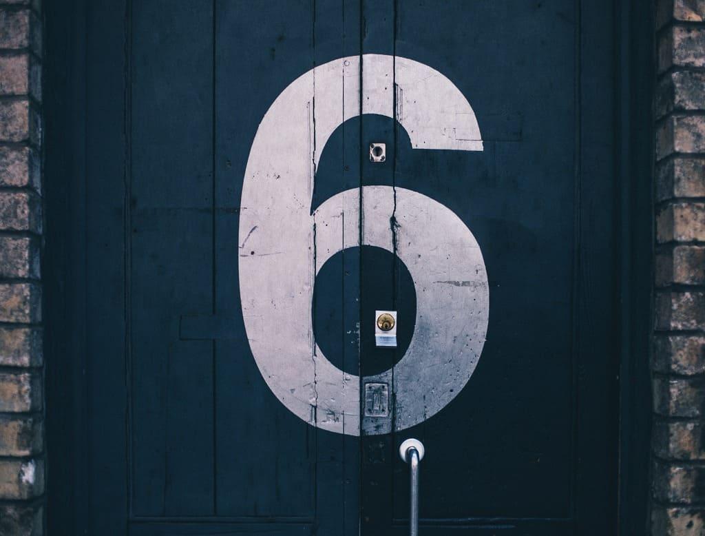 数字の6の画像